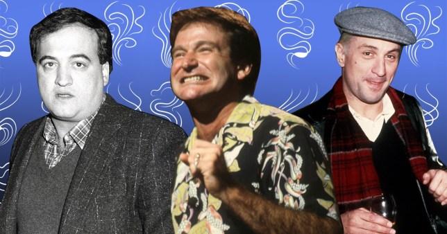 Robin Williams, Robert De Niro took coke with Belushi before