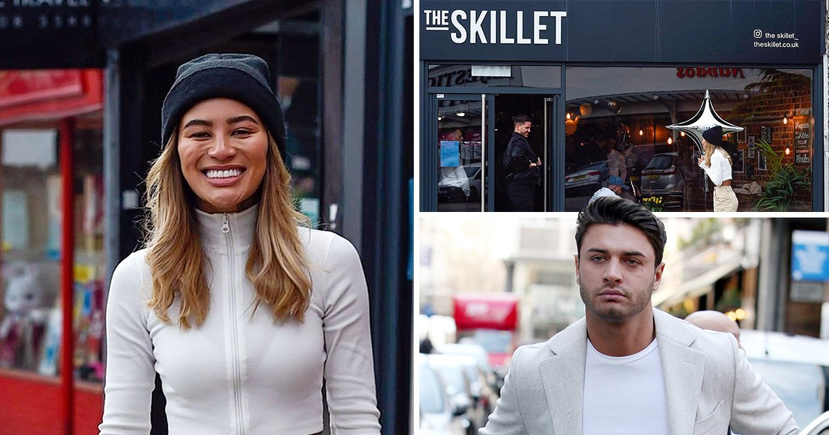 Montana Brown beams with pride at Mike Thalassitis' restaurant ahead of opening weekend