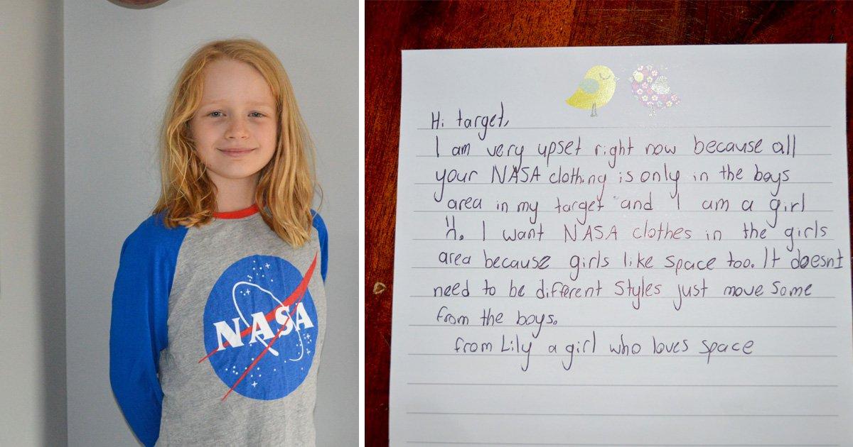 little girl writes letter