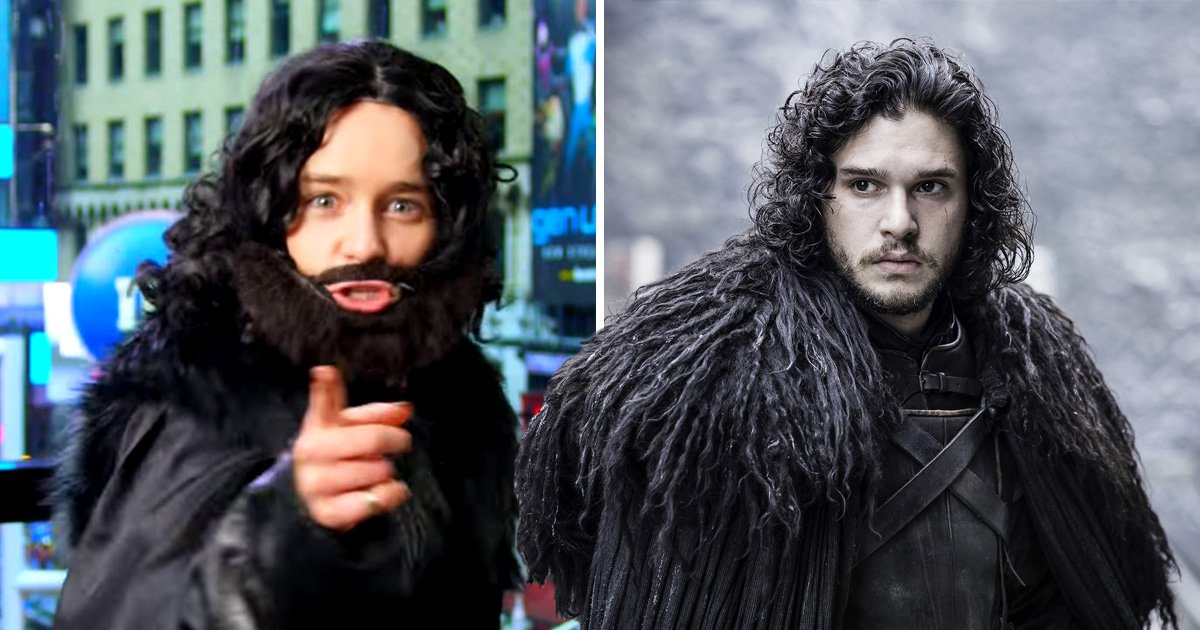 Emilia Clarke dresses up as Jon Snow as she surprises Game Of Thrones fans in New York and we are obsessed