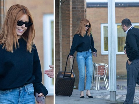 Stacey Dooley all smiles as she leaves hotel after 'spending night with Kevin Clifton'