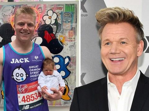 Gordon Ramsay's tiny newborn son Oscar makes London Marathon debut as big brother Jack prepares for race