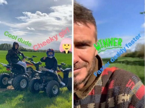 David Beckham is Stormzy's biggest fan as he enjoys perfect Sunday quad biking and watching London Marathon