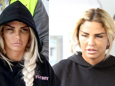 Frail Katie Price left bloodied and swollen from latest facelift as she's spotted in wheelchair