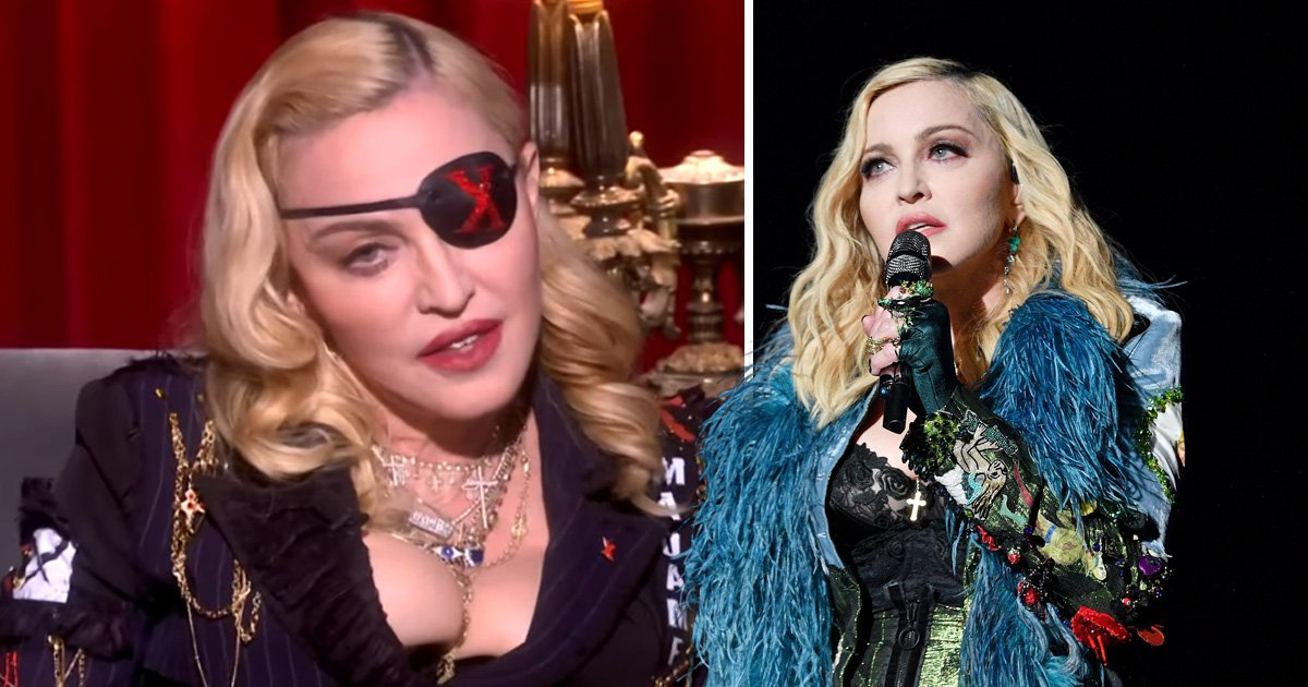 Madonna during an MTV eventuality in London and behaving on-stage
