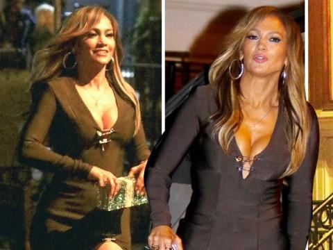 Jennifer Lopez is all about the dollar bills as she rocks $5,000 clutch on Hustlers set