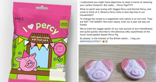 Percy Pigs are now vegetarian