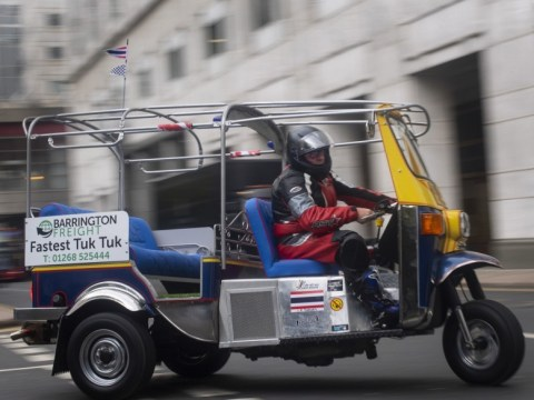 Businessman's bid to beat land speed world record in a Tuk Tuk