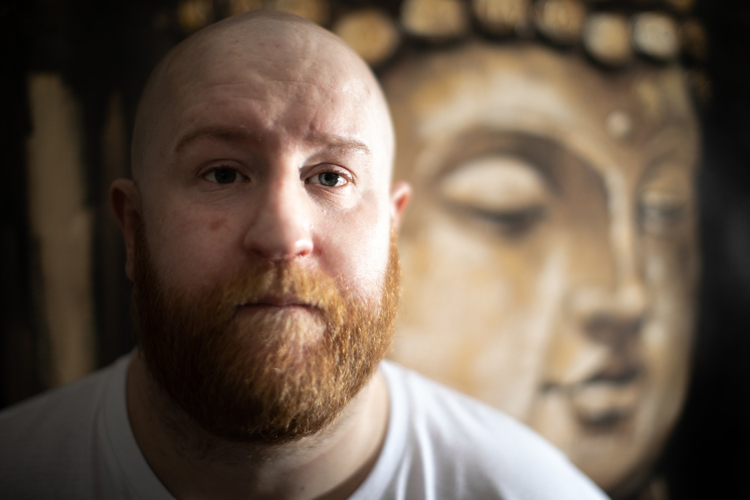 ? Joel Goodman - 07973 332324 . 11/01/2019 . Manchester , UK . CODY LACHEY in his home in North Manchester . Cody has written about his life as an ex-offender . Photo credit : Joel Goodman