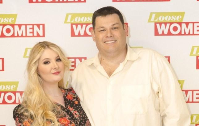 Katie Labbett and Mark Labbett appear on Loose Women in London