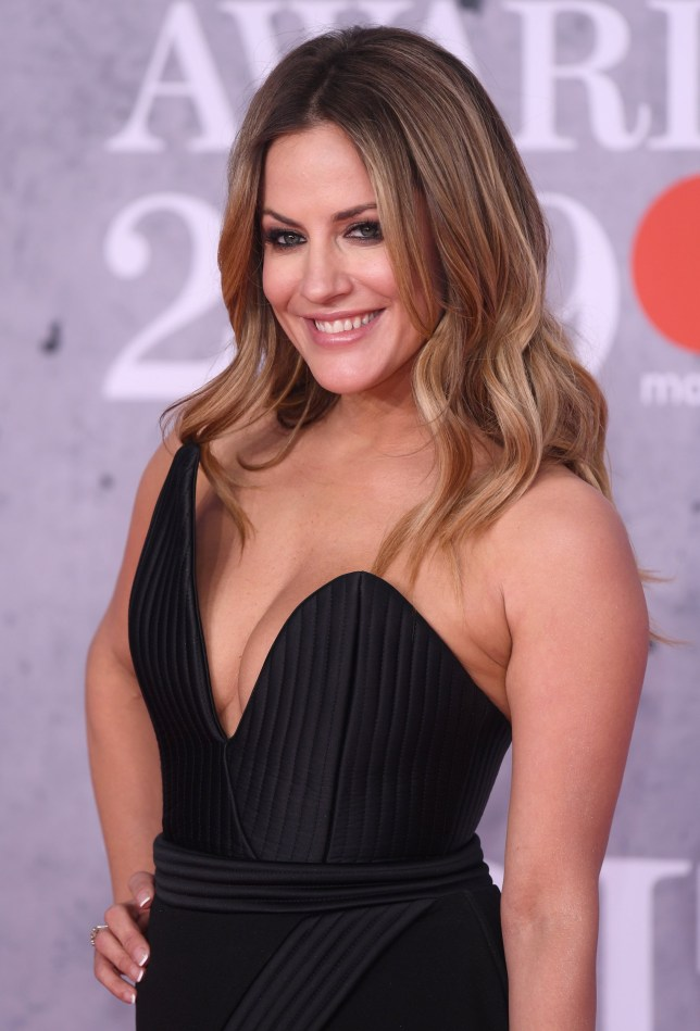 Caroline Flack at the BRIT Awards