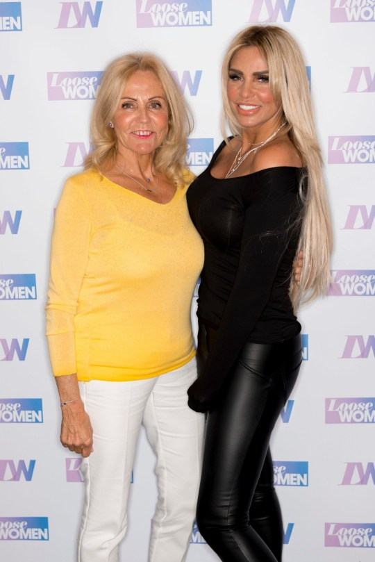 Editorial use only Mandatory Credit: Photo by Ken McKay/ITV/REX (10183796k) Katie Price and mum Amy Price 'Loose Women' TV show, London, UK - 01 Apr 2019 GUESTS: KATIE PRICE AND MUM AMY It's been 18 months since Amy Price first joined us to talk about being diagnosed with incurable lung condition. Amy will be joining us today along with Katie to talk about how she is doing and how the family is coping.
