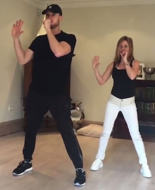 Picture: Geri Halliwell Geri Halliwell seen re-learning moves to Spice Up Your Life amid Mel B sex claims