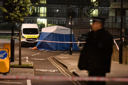 Police activity ear the Grafton Road junction with Vicars Road after the fatal stabbing of a man in his 20s. PRESS ASSOCIATION Photo. Picture date: Monday April 1, 2019. See PA story POLICE KentishTown. Photo credit should read: John Stillwell/PA Wire
