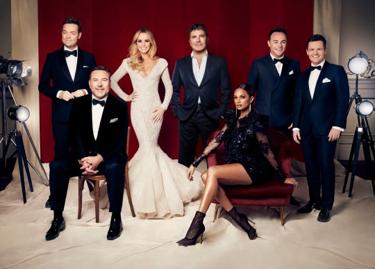 Britain's Got Talent judges with hosts Ant and Dec