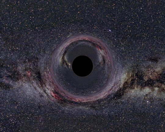 Photograph of a black hole in the milky way. Dated 2014. (Photo by Universal History Archive/UIG via Getty Images)