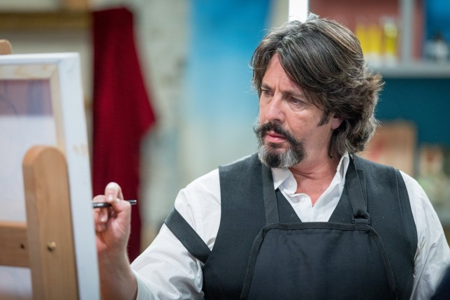 Laurence Llewelyn-Bowen in BBC One's Celebrity Painting Challenge