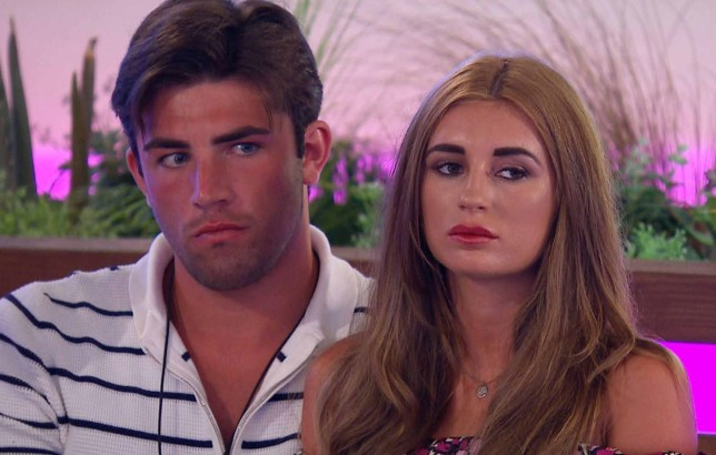 Jack Fincham and Dani Dyer on Love Island
