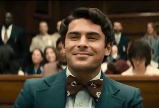 Zac Efron as Ted Bundy in Extremely Wicked Shockingly Evil and Vile