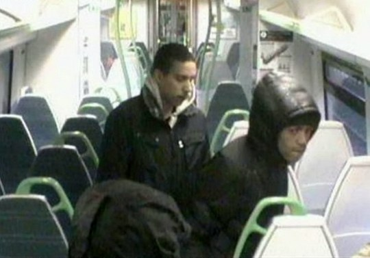 "Detectives have released CCTV images taken on the train at the time of the incidents between Tulse Hill station in south London and Tattenham Corner station in Surrey at around 7.45am on Sunday February 10th. See National story NNtrain; Thugs who went on the rampage on board a train - beating up passengers in a series of ""unprovoked"" attacks - are being hunted. Police want to trace three men after one passenger suffered a broken nose and another lost a tooth after being battered by the trio on the Sunday morning service. Detectives have released CCTV images taken on the train at the time of the incidents between Tulse Hill station in south London and Tattenham Corner station in Surrey at around 7.45am on Sunday February 10th. A British Transport Police (BTP) spokesman said: ""Three men are reported to have been involved in attacks on a number of passengers. ""One man had his tooth broken after being punched in the face. A second man suffered a broken nose.""Officers believe the men in the images may have information that could help their investigation."" He said anyone who witnessed the incident, or who knows the identity of the men, should call BTP or Crimestoppers."