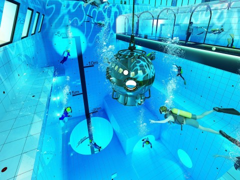 Dive into the world's deepest swimming pool opening in Poland