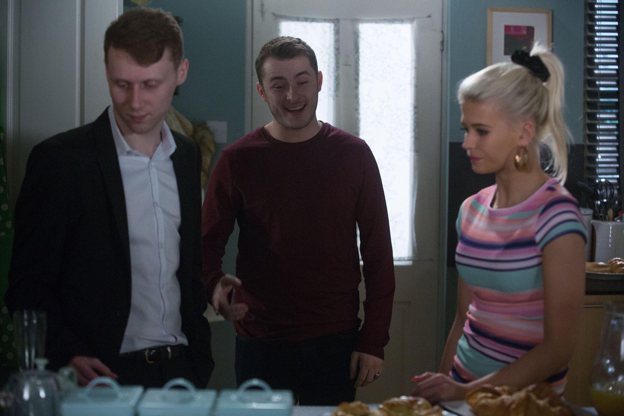 Ben (Max Bowden) drops the bombshell on Jay (Jamie Borthwick)