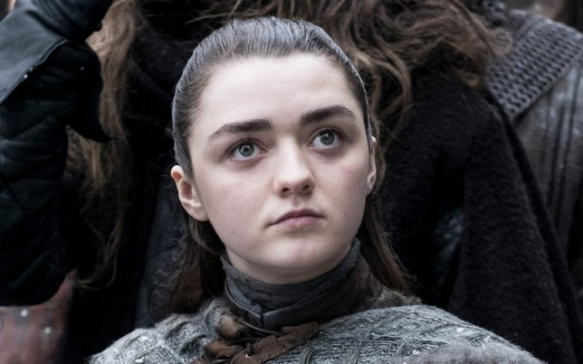 arya stark played by maisie williams on game of thrones