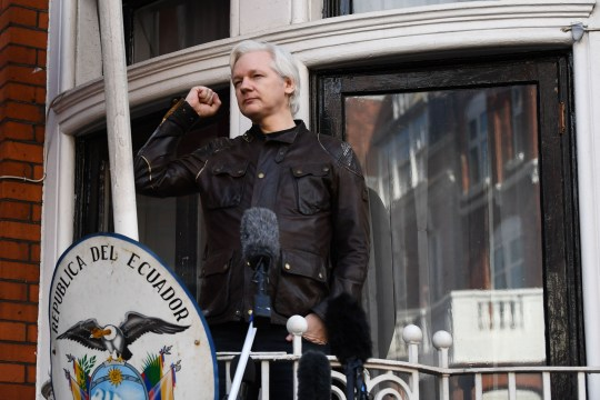 WikiLeaks says Julian Assange could be removed within hours from the Ecuadorian embassy where he has taken refuge for seven years (Picture: Justin Tallis/AFP/Getty)