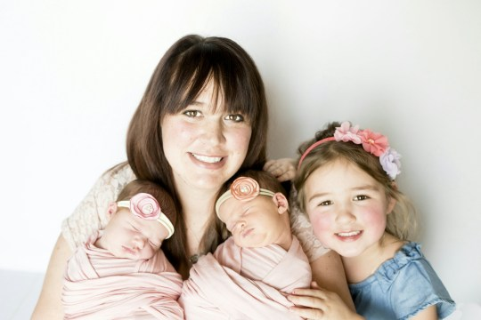 Trista with Eloise Maxwell and Isla Camden and Avalon. See SWNS story SWNYcrash; A mother who survived a horror crash which killed her two sons gave birth to twin girls one year later, and named them in honor of her deceased boys. Trista Curry, 31, and her daughter Avalon, four, miraculously survived the smash in March 2018 which killed little Camden, nine, and Maxwell, 19 months. The family was traveling to relatives in Stephen, Minnesota, USA, for Easter, when their SUV collided with a semitrailer truck on the interstate. Less than a year after the tragedy, Trista gave birth to twin girls Eloise Maxwell and Isla Camden who she named in tribute to their departed brothers. The dental nurse, of Fargo, North Dakota, said: ???I knew something was bad when I didn???t hear my kids crying.???I kept praying to God to please help, please save my boys. ???My girls are a gift from God because I had so much love to give and nowhere to put it when my boys were taken from me.??? Trista and her children had only been on the road for half an hour on March 25 2018 when their SUV began to slide on the interstate 29 in eastern North Dakota.