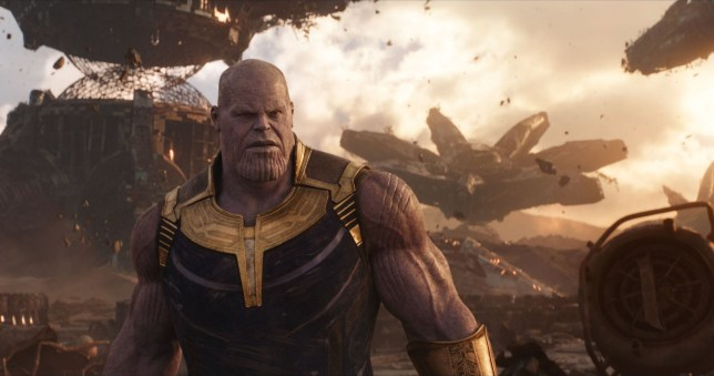thanos as seen in avengers: infinity war