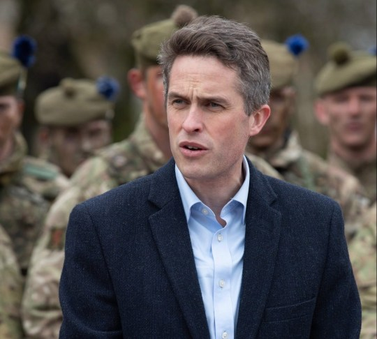 epa07486310 A handout picture provided by the British Ministry of Defence showing British Secretary of State for Defence, Gavin Williamson standing in front of the troops from The 4th Battalion The Royal Regiment of Scotland speaking at Cophill Down, Salisbury, southern England, 04 April 2019, issued 05 April 2019. Gavin Williamson announced a new British Centre of Excellence for Human Security, which will deliver training for military personnel on areas such as women, children and armed conflict, human trafficking and sexual exploitation. EPA/CPL ROBERT WEIDERMAN (RLC) / BRITISH MINISTRY OF DEFENCE / HANDO MANDATORY CREDIT: MOD/CROWN COPYRIGHT HANDOUT EDITORIAL USE ONLY/NO SALES