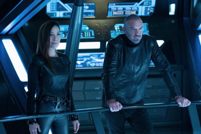 """Point of Light"" -- Ep #203 - Pictured (l-r): Michelle Yeoh as Philippa Georgiou; Alan Van Sprang as Leland of the CBS All Access series STAR TREK: DISCOVERY. Photo Cr: Michael Gibson/CBS ???? 2018 CBS Interactive. All Rights Reserved."
