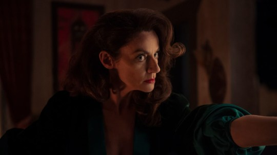 Michelle Gomez in a scene from Chilling Adventures of Sabrina