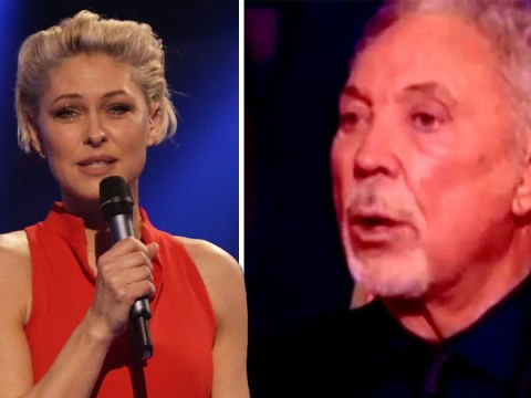 The Voice's Emma Willis apologises after Tom Jones 'swears' during live final