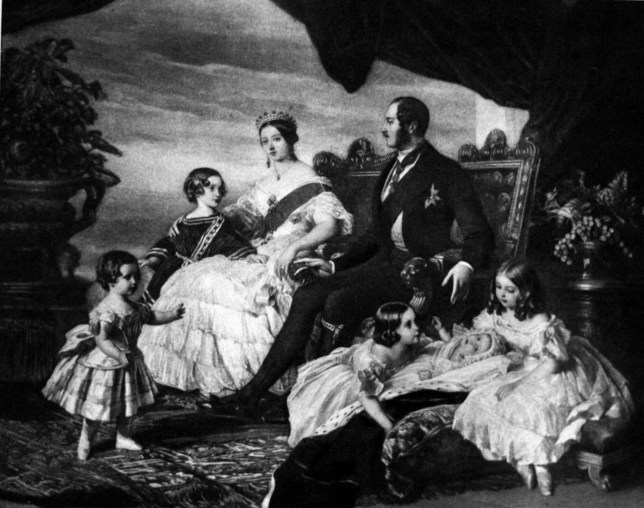 Family of Queen Victoria, by Franz Xaver Winterhalter. Oil on Canvas, circa 1846. Shows the Queen, Prince Albert, and the 5 children they had during the time of this painting. (Photo by: Universal History Archive/UIG via Getty Images)
