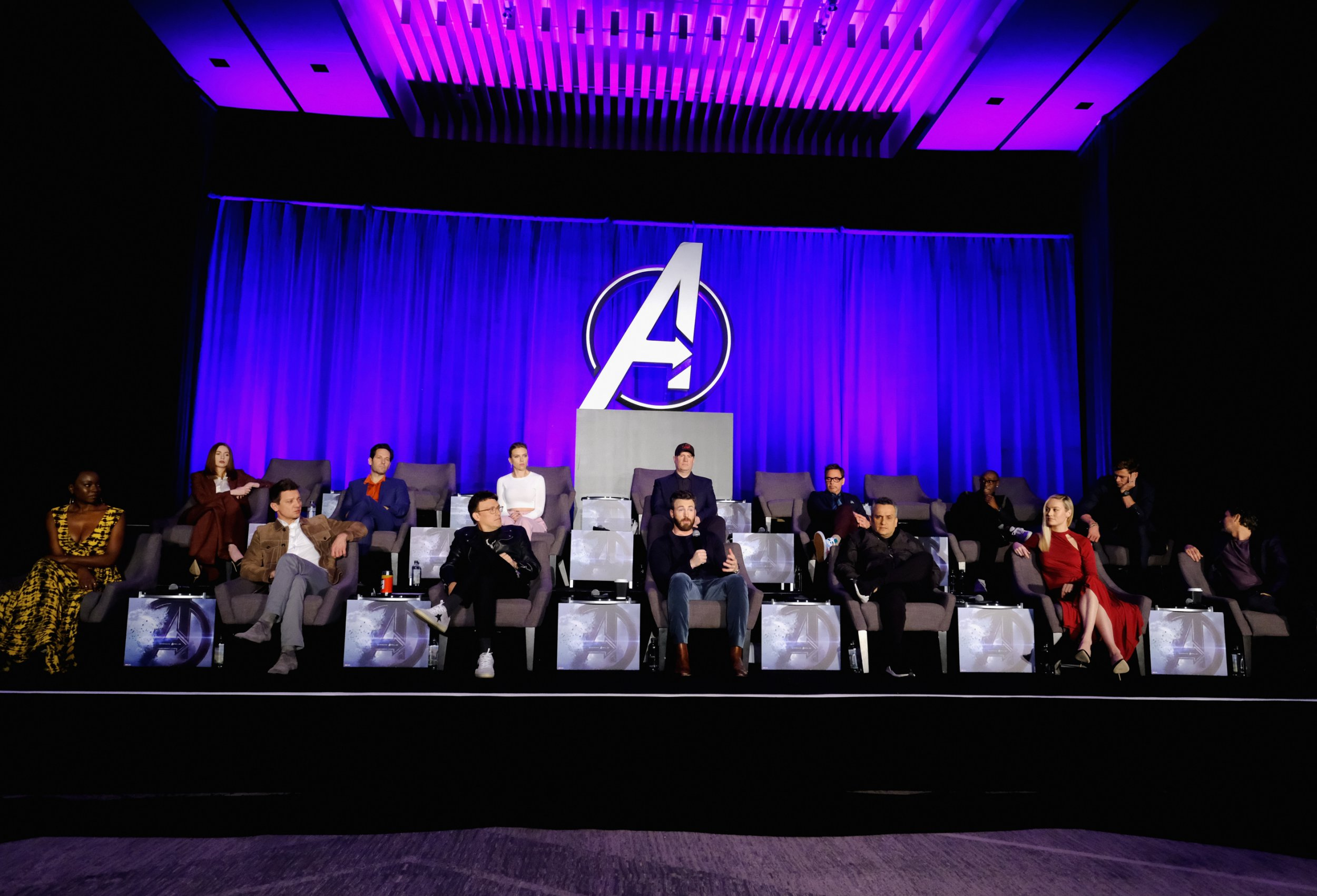 Avengers: Endgame conference leaves empty chairs for 'fallen' heroes