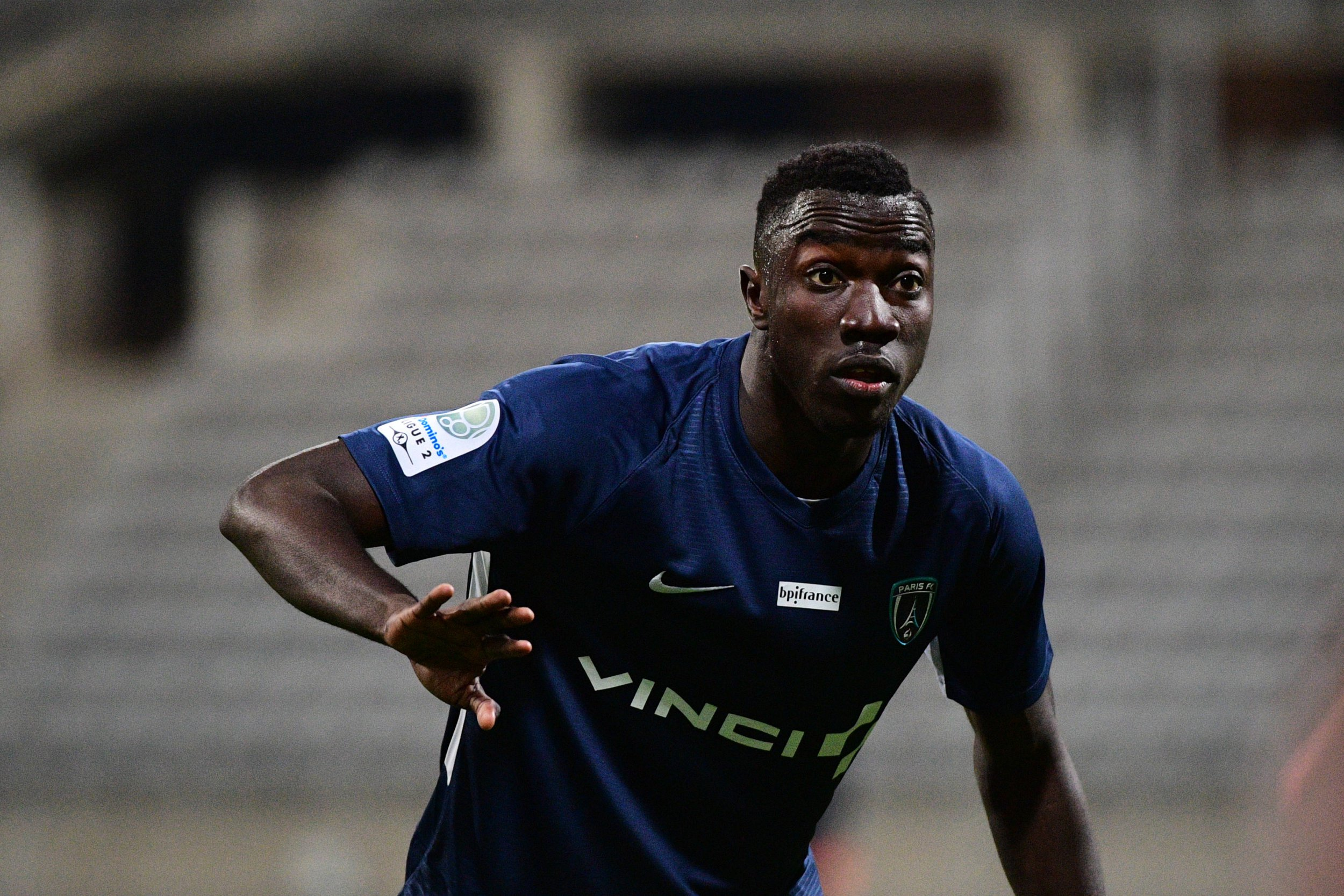 Silas Wamangituka of Paris FC during the Ligue 2 match between Paris FC and AJ Auxerre at Stade Charlety on March 29, 2019 in Paris, France. (Photo by Dave Winter/Icon Sport via Getty Images)