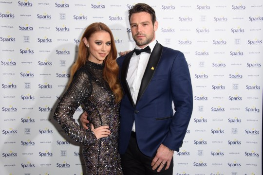 Mandatory Credit: Photo by Ash Knotek/REX/Shutterstock (9263269j) Una Healy and husband, Ben Foden Sparks Winter Ball, London, UK - 06 Dec 2017