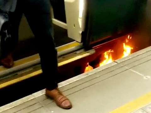 Commuters evacuated after train fire at London Bridge station