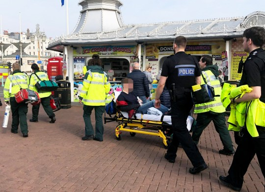 KIDS INJURED ON RIDE ON BRIGHTON PIER TODAY BARRY KEEVINS HAS COPY 07515382 675