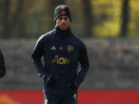 Marcus Rashford returns to Manchester United training ahead of Barcelona clash