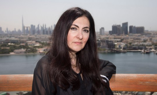 Date: 09/04/19 Pictured: Laleh Shahravesh speaks to MailOnline Caption: Laleh Shahravesh pictured in Dubai is facing jail in Dubai for calling her ex-husband's new wife a ?horse? on facebook