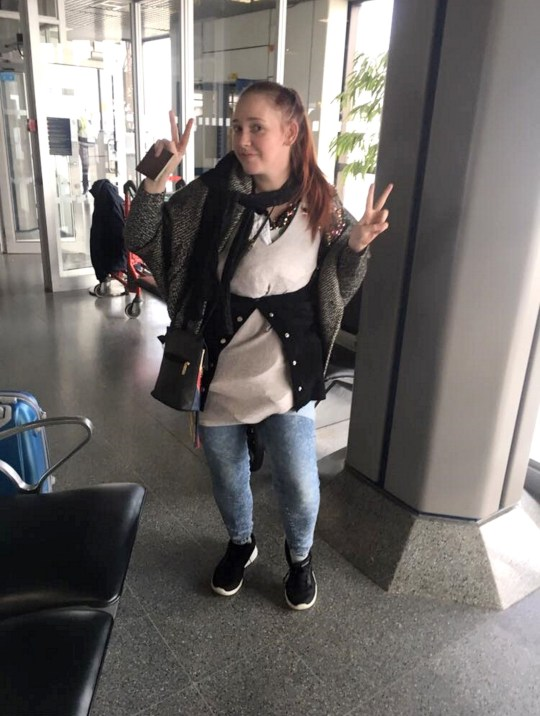 PIC FROM Kennedy News and Media (PICTURED: NATALIE WYNN DRESSED IN 3KG OF CLOTHES TO AVOID A ??65 BAGGAGE CHARGE ON HER FLIGHT FROM MANCHESTER AIRPORT TO FUERTEVENTURA) A mum dodged Thomas Cook's baggage charges by taking a leaf out of Joey from Friends' book to board the plane - wearing more than THREE KILOS of her own clothes. Natalie Wynn claims she piled on seven dresses, two pairs of shoes, two pairs of shorts, a skirt and a cardigan to avoid forking out the ??65 fee when her case was 3.4kg over the 6kg limit. The 30-year-old was stopped while boarding the Thomas Cook flight when a security officer weighed her 9.4kg case and told her it was too heavy to be taken into the cabin. KENNEDY NEWS COPY - 0161 697 4266