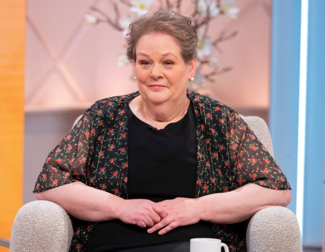 Anne Hegerty appears on Lorraine TV show in London in April 2019