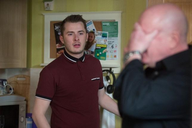 Ben (Max Bowden) wants rid of Keanu (Danny Walters)