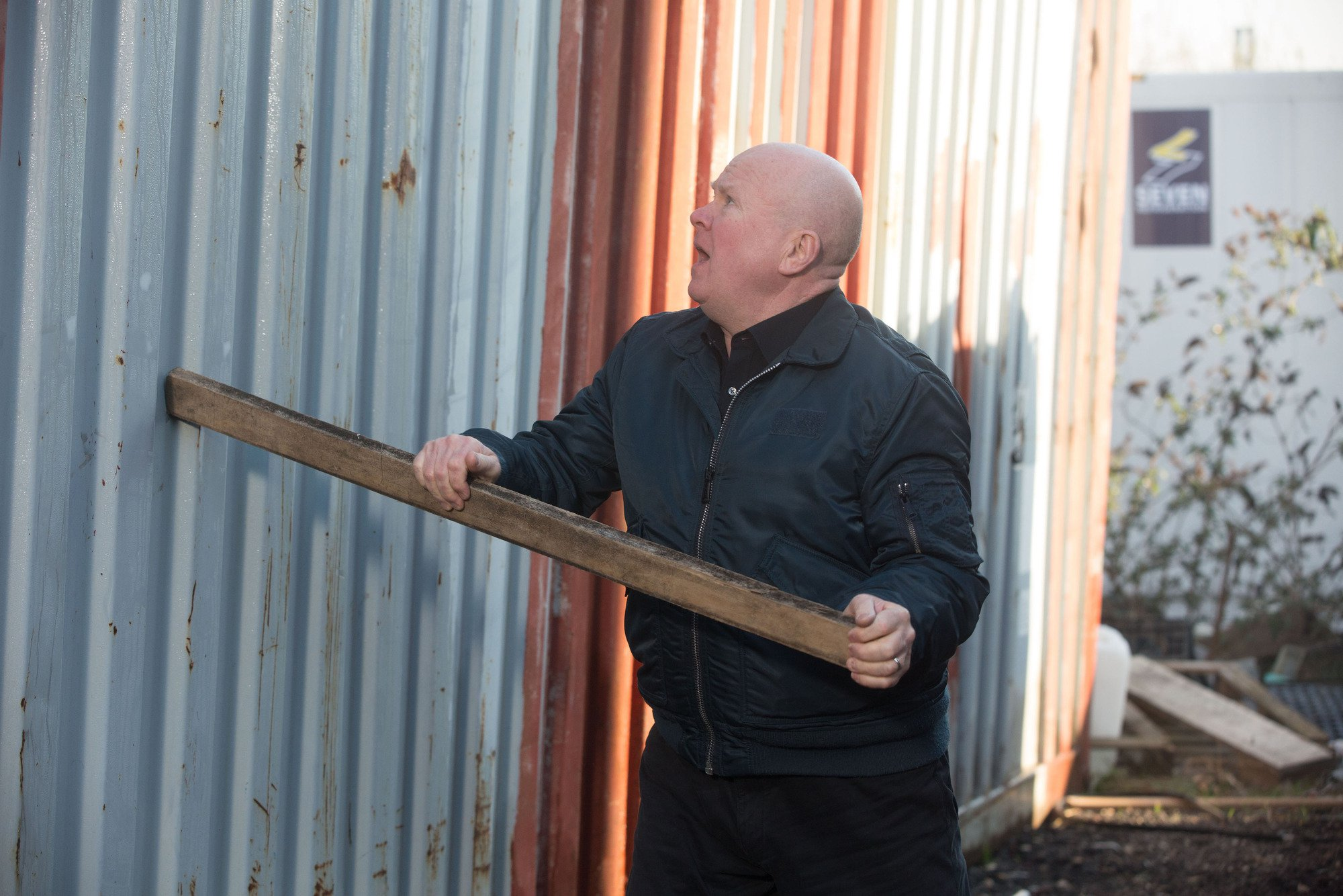 Phil (Steve McFadden) gets attacked on his search for Louise