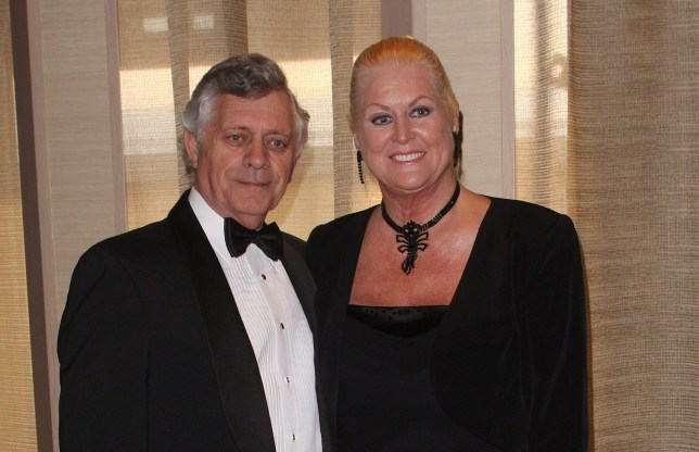 Mandatory Credit: Photo by REX/Shutterstock (1167877ak) Kim Woodburn and Husband Peter Naming of the Azura, the latest ship in the P and O Cruises fleet, Southampton, Britain - 10 Apr 2010