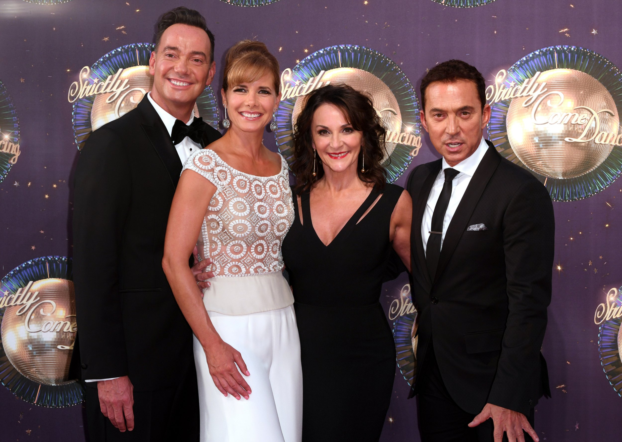 Mandatory Credit: Photo by David Fisher/REX/Shutterstock (9028516ih) Craig Revel Horwood, Darcey Bussell, Shirley Ballas and Bruno Tonioli 'Strictly Come Dancing' launch, BBC Broadcasting House, London, UK - 28 Aug 2017
