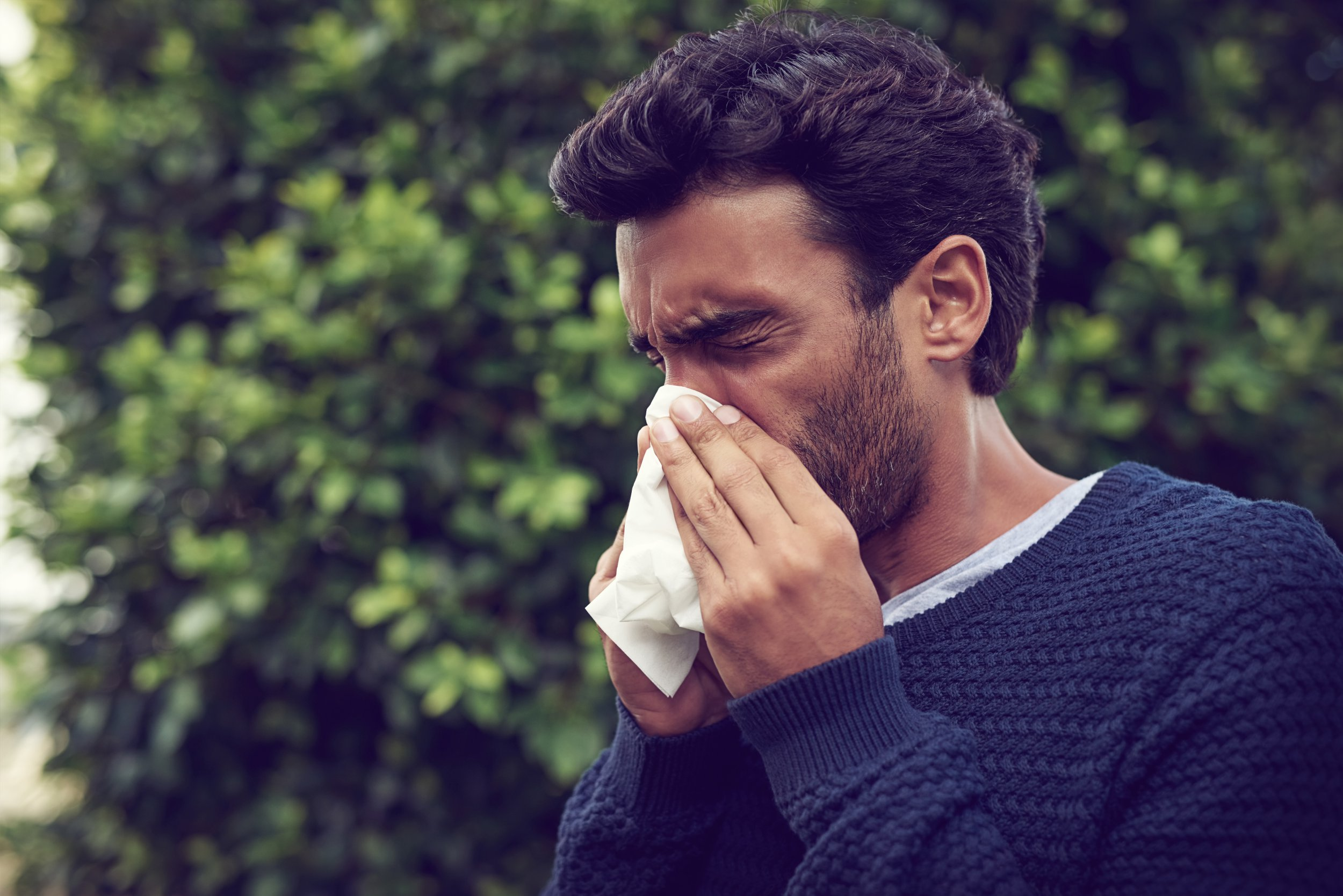 Cropped shot of a young man suffering with allergies