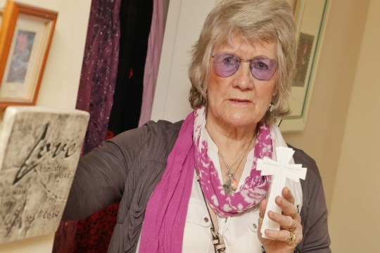 """A woman living with a """"troubled spirit"""" for over five years has had to stay in a Travelodge because it won't leave her alone. Emily Sparks, 83, from Writtle, who is also a psychic medium, has been haunted by """"Joyce"""", who Emily claims died in the flat before she moved in. Caption: Emily has been """"physically and verbally abused"""" by the spirit."""